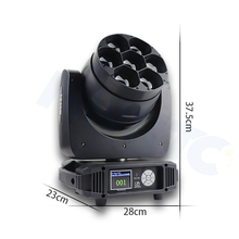 Dj club disco 줌 7x40 와트 RGBW 4 in 1 빔 wash LED moving head 빛
