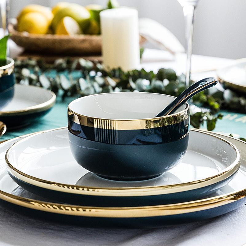 BSCI חג המולד דקורטיבי מטבח אפל קערת סטים, קרמיקה ארוחת ערב אגס צורה, קרמיקה מנות צלחת