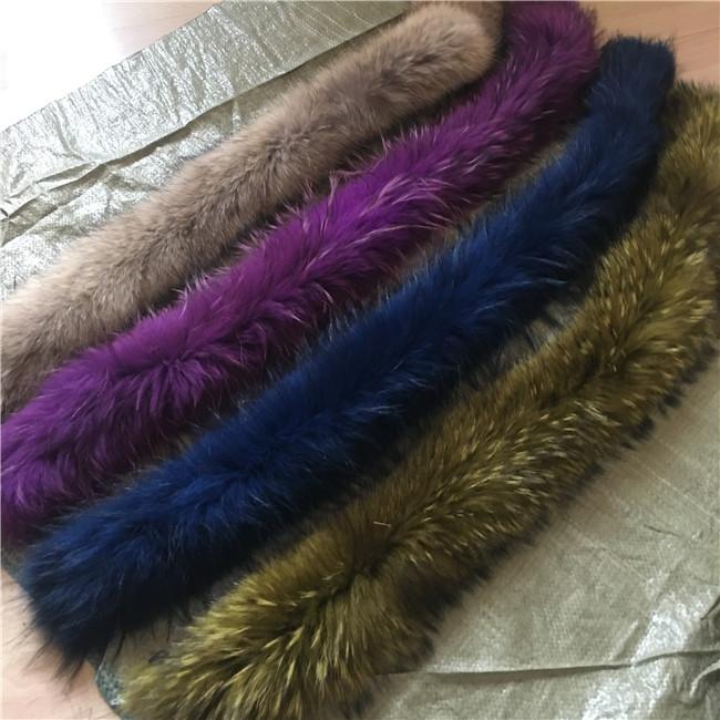 Quality Raccoon Fur Collar Winter real Fur collar