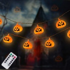 Energy Light Christmas Party Lights Solar Solar Energy 9.7Ft Remote Control Pumpkin Led Lanterns String Light For Halloween Christmas Party Holiday Decor Lighting