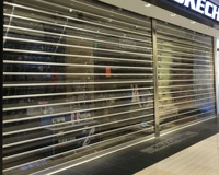 Factory Transparent Polycarbonate Roller Shutter Door Plastic Commercial Automatic PVC Rolling Up Doors