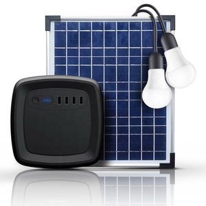 58Wh off grid solar system solar power generator 15600mah power bank station with usb dc ports led bubles panel for africa