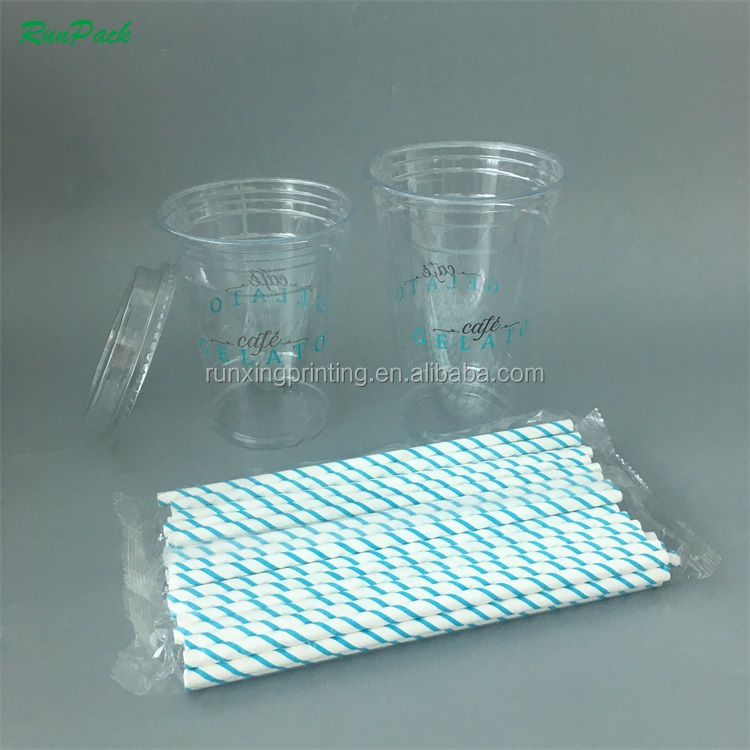 Runxing promotional disposable colored 12oz plastic cup