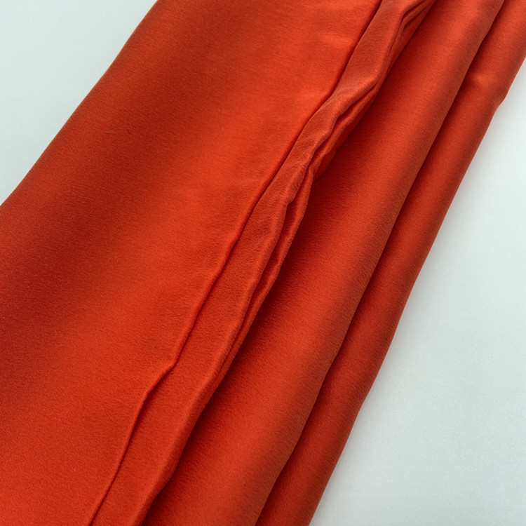 In stock sand washed 22mm silk satin pajamas dress solid silk fabric