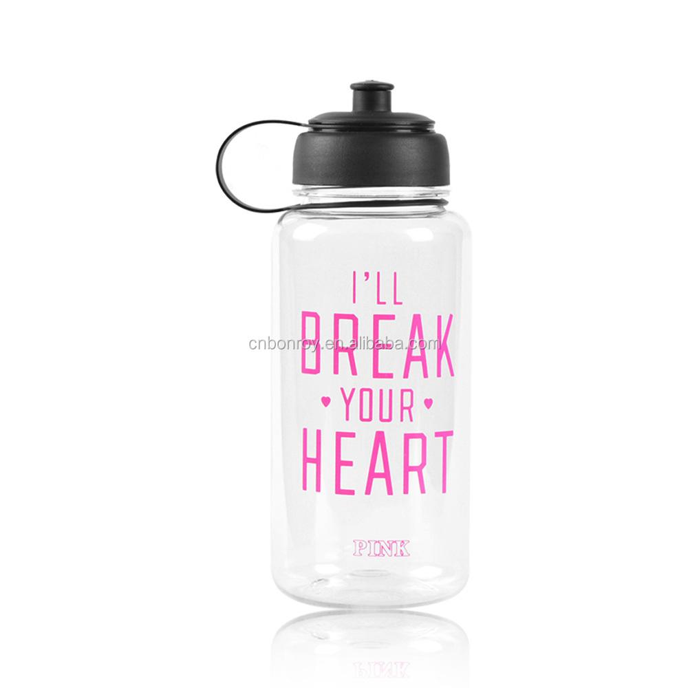 Sportstop pull top water bottle