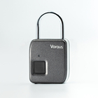 USB charge smart door lock silver/gold suitcase black biometric technology fingerprint padlock
