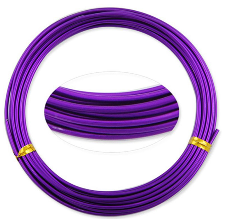 Wholesale 2mm Aluminium Craft Wire Enameled Anodized Craft Colorful Aluminum Alloy Wire