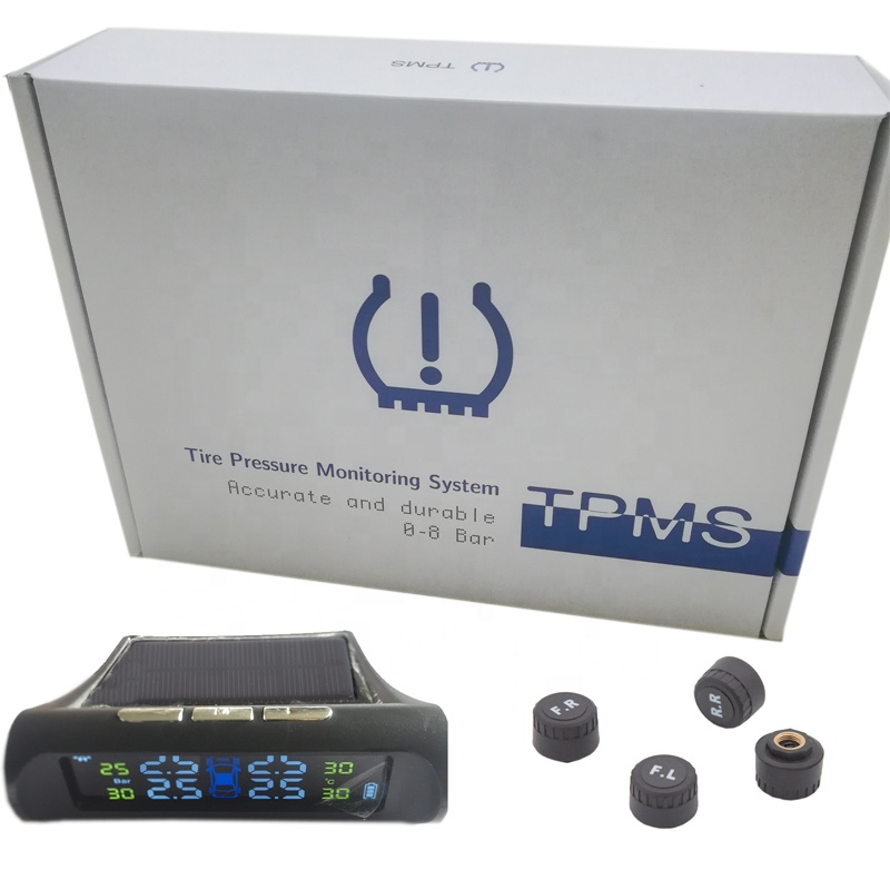 Factory Wholesales 433MHZ TPMS Solar-powered Wireless External Automotive Tire Pressure Warmers