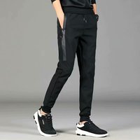 In autumn and winter add velvet and thicken casual trend slim body and tight feet men's sweatpants