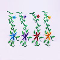 Fashionable and exquisite 100% embroidery flower patch patch