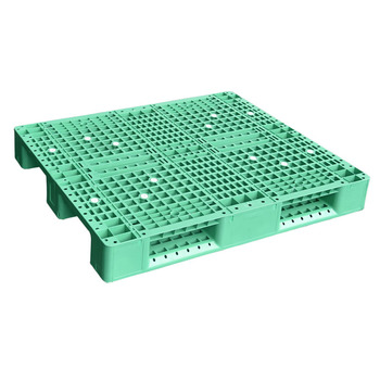 Heavy duty durable single face standard size rack use steel reinforced blue hdpe cheap euro plastic pallet prices