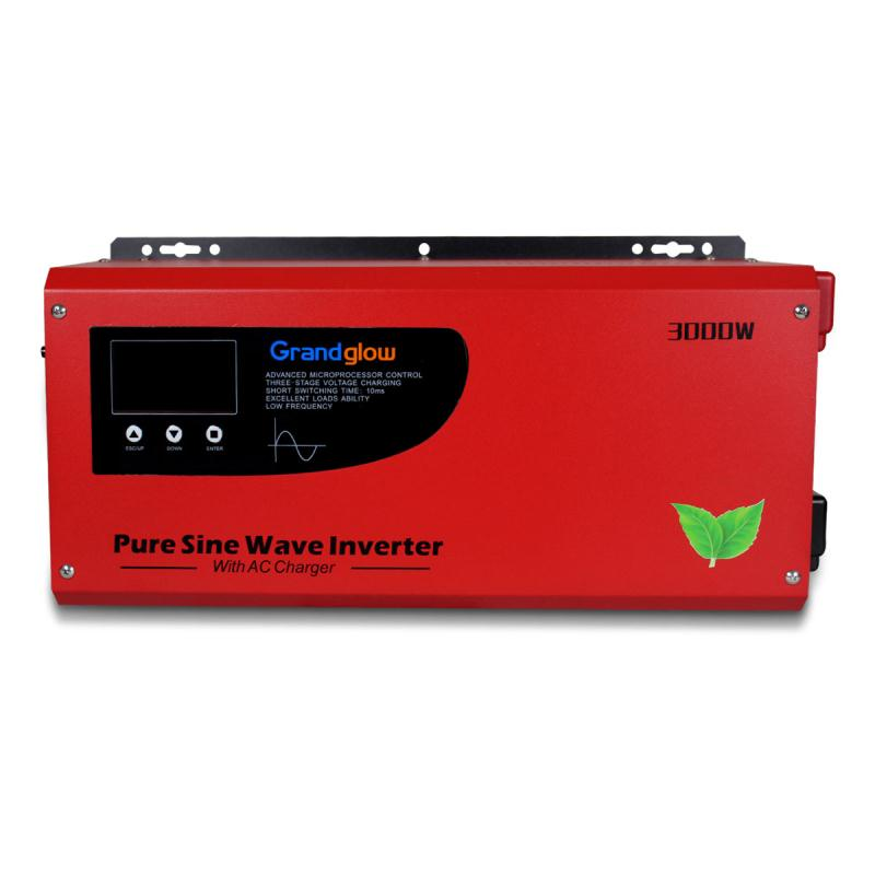 HOT SALE 3KW PURE SINE WAVE SINGLE PHASE 24V 48VDC 110V 220VAC OFF GRID SOLAR INVERTER WITH AC CHARGER
