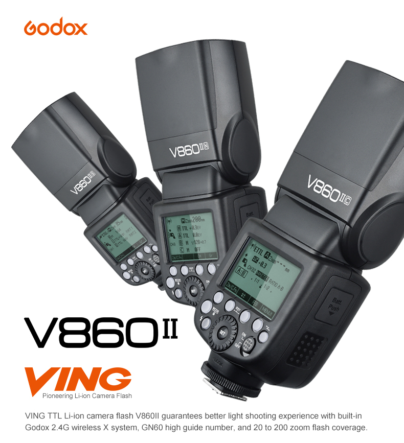 Godox VING V860 V860II-N Li-ion i-TTL Speedlite Camera Flash Light For Nikon Digital Camera