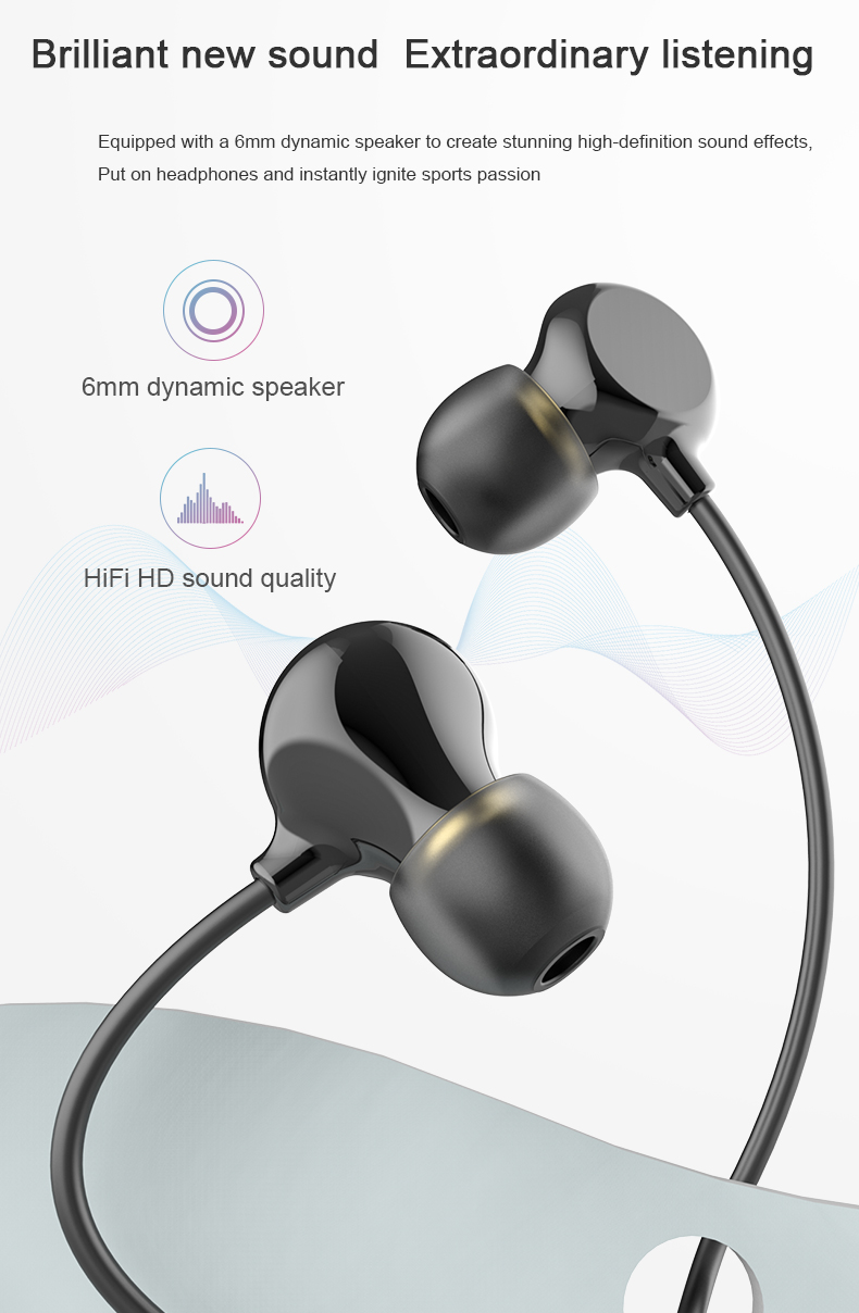 2020 Wireless sports earphone sport headphones bluetooth earphone for factory OEM ODM customize