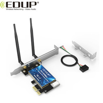EDUP AC600Mbps Wi-Fi Bluetooths 2 to 1 PCI Express adapter