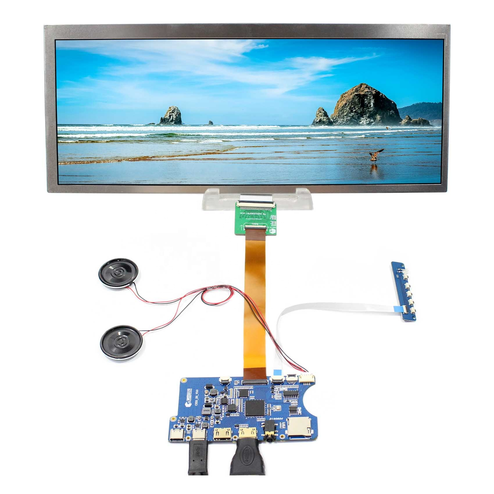 Type C HDMI <strong>TF</strong> Card LCD Controller Board Work for 12.3&quot; HSD123KPW1-A30 1920X720 lcd tft display
