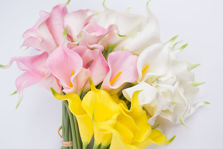 Calla Lily Artificial Flower for Decoration Zantedeschia Aethiopica Calla Lily artificial flowers