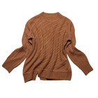 Soft pure light cashmere knitting long sleeve sweater for lady in winter