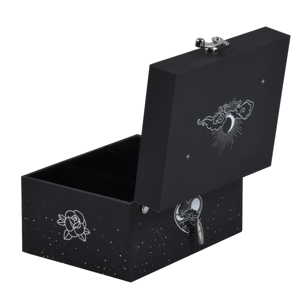 Custom elegant ballerina musical leather jewelry box with lock