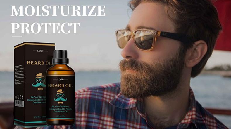 High Quality Custom Scent Nourishing and Smooth Oil Beard Growth Beard Serum