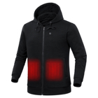 2019 100% Cotton Fleece Winter Far Infrared Warm 5V USB Battery Powered Men's Hoodies Heated Jacket