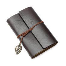Ретро-блокнот для путешествий, винтажный блокнот со свободными листьями и кольцом, кожаный мягкий чехол, художественный дневник A6, многораз...(Китай)