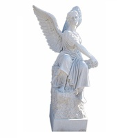 Handcarved Beautiful Roman Real Life Size Angel Statue
