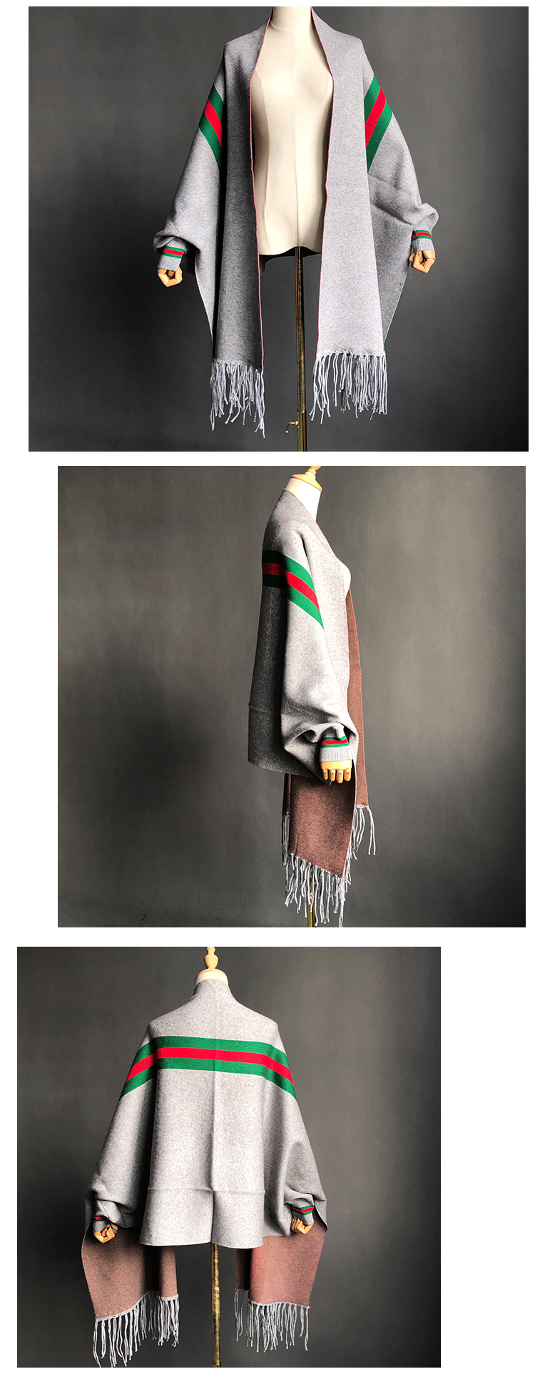 winter poncho scarf wool knitted women cashmere poncho