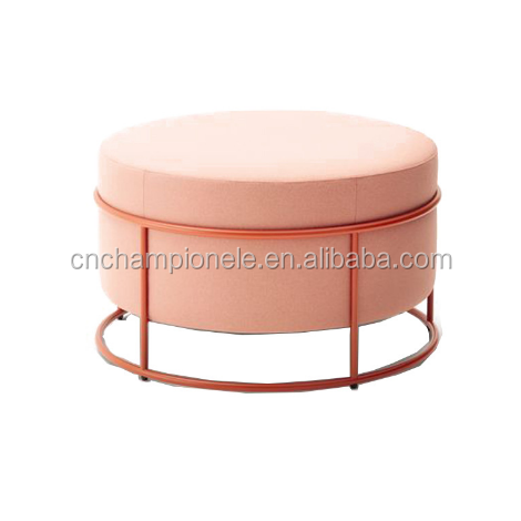 Used outdoor ottoman outdoor fabric metal base ottoman