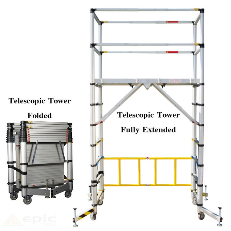 2019 hot sale Construction aluminium mobile telescopic scaffolding tower ladder