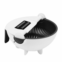 9 In 1 Multi-functional Chopper Rotate The Vegetable Onion Cutter Slicer Shredder Home Use