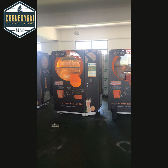 Refrigerator 70 cups APP Operated Freshly Squeezed juice vending machine