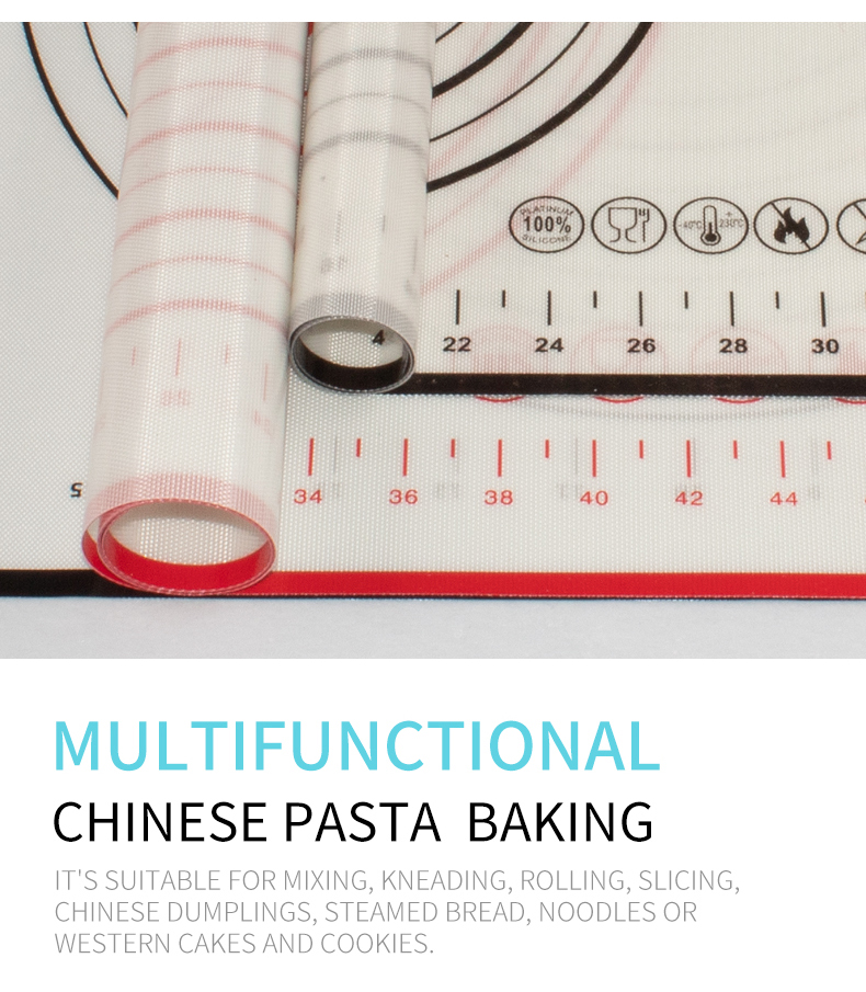 Amazon Top Sale Fast Delivery Custom-made Food Grade Baking Tools 400*600*0.4mm Silicone Pastry Mat/ Baking Mat