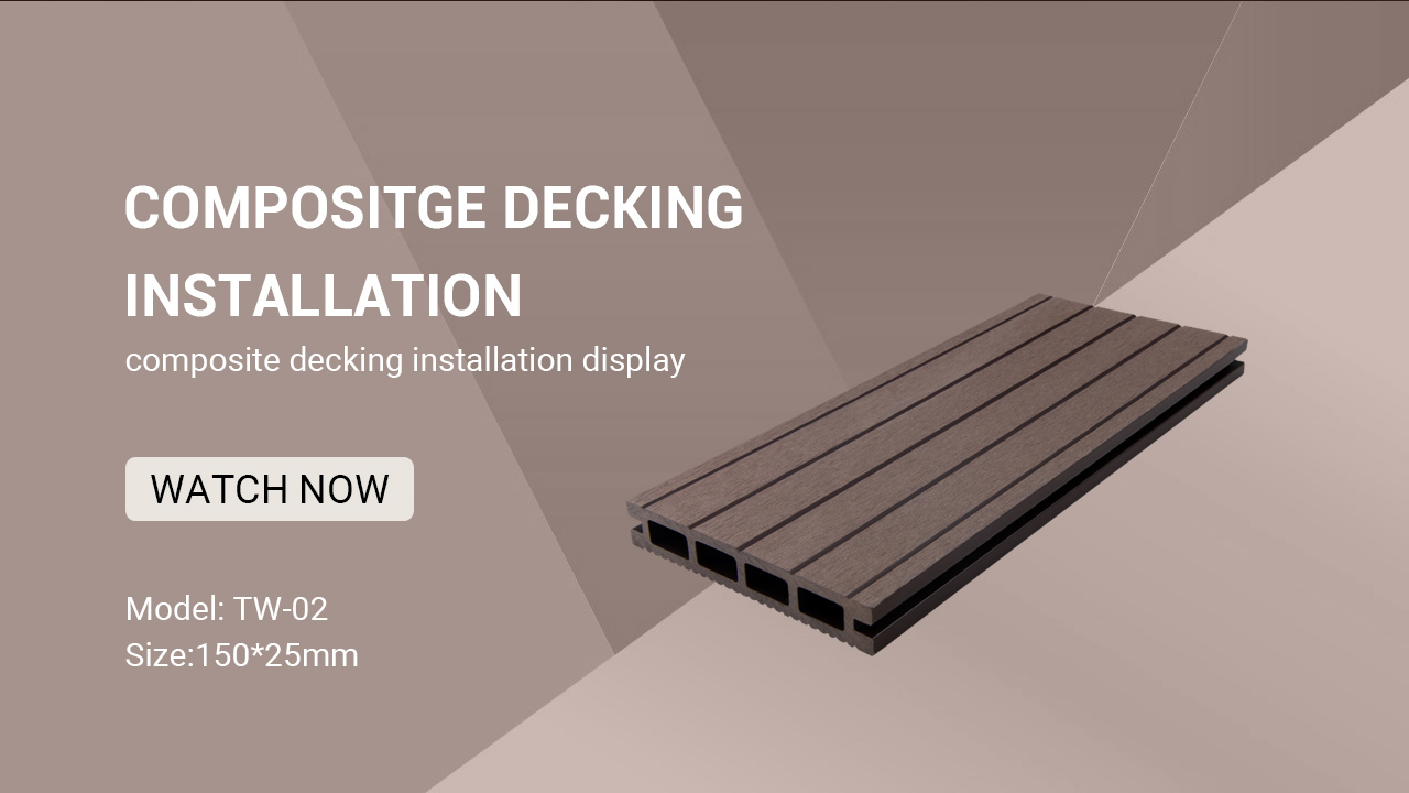 Outdoor China Cheap Hollow Wood Plastic Composite Decking