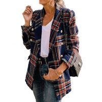 China Supplier women's jackets & coats plaid with high popularity