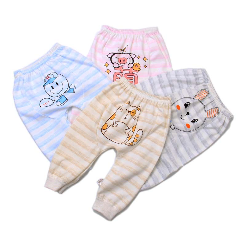 Hot spring and autumn baby knitwear for boys and girls in 2020 100 organic cotton 0-3-year-old boys' and girls' baby Harem Pants