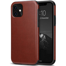 Laudtec Luxus Kompatibel mit iPhone 11 Fall Premium Leder Injektion TPU Schwarz Fall
