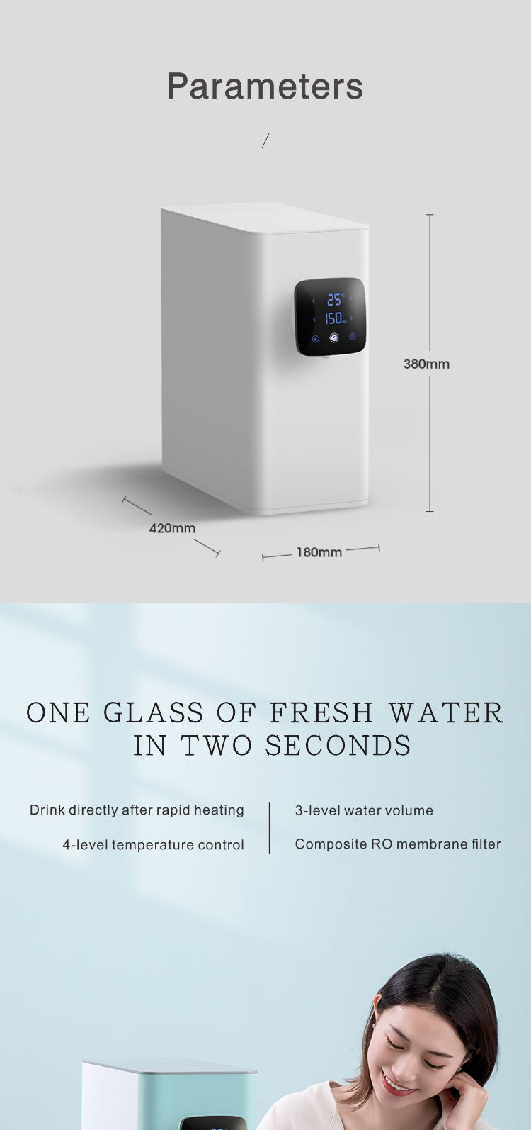3 in 1 compact custom Yulia home hot and cold water filter tank machine pentair 9 stages ro water filter system