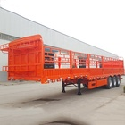 Hot sale 3/4 Axles 50-80 tons Animal Vegetable Coal Transporting Fence Semi Trailer price