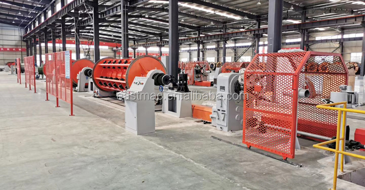 High speed Rigid type Armoring Machine for cable driven by ground shaft or independent motor