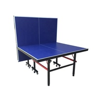 Hot Wholesale Durable Double Fold Indoor Pingpong Table Tennis Table for Sports Entertainment