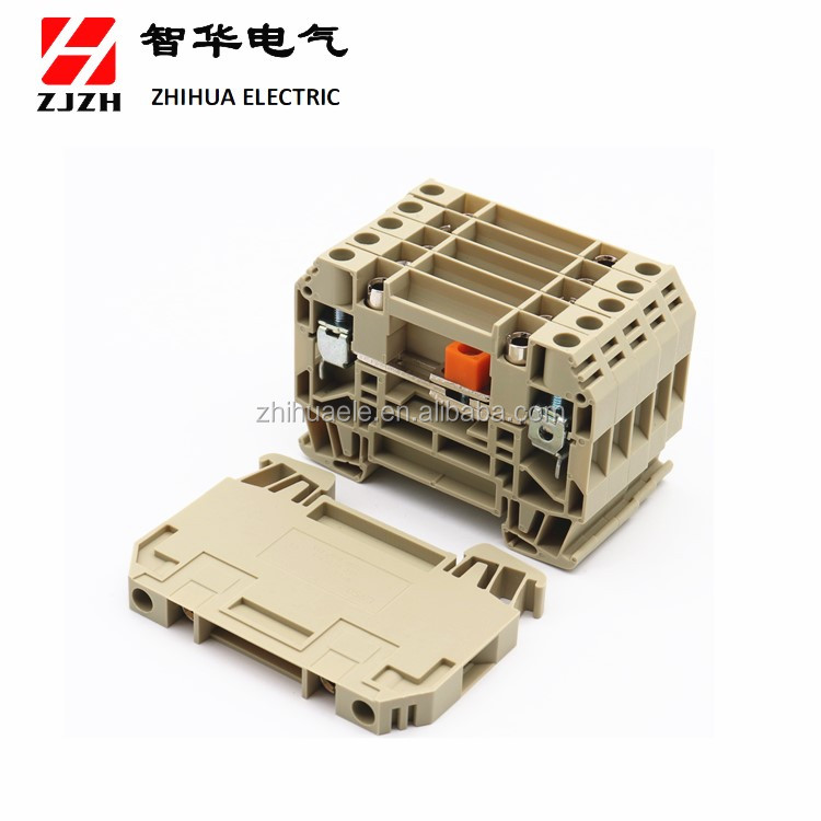 ZHIHUA Hot sale high quality din rail terminal block WTL 6/1  Electrical Screw  test Terminal Block Connector