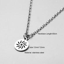 Мужское ожерелье из нержавеющей стали, ожерелье для женщин и мужчин, простая Длинная цепочка, прямоугольное ожерелье с подвеской, эффектное...(Китай)