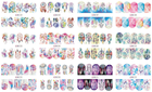 Nail Sticker Designer Nail Designs Hot Sale 13 Designs Popular Non-toxic Cartoon Nail Sticker