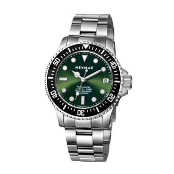 NEYMAR 1000M diver watch automatic movement with sapphire glass and green dial