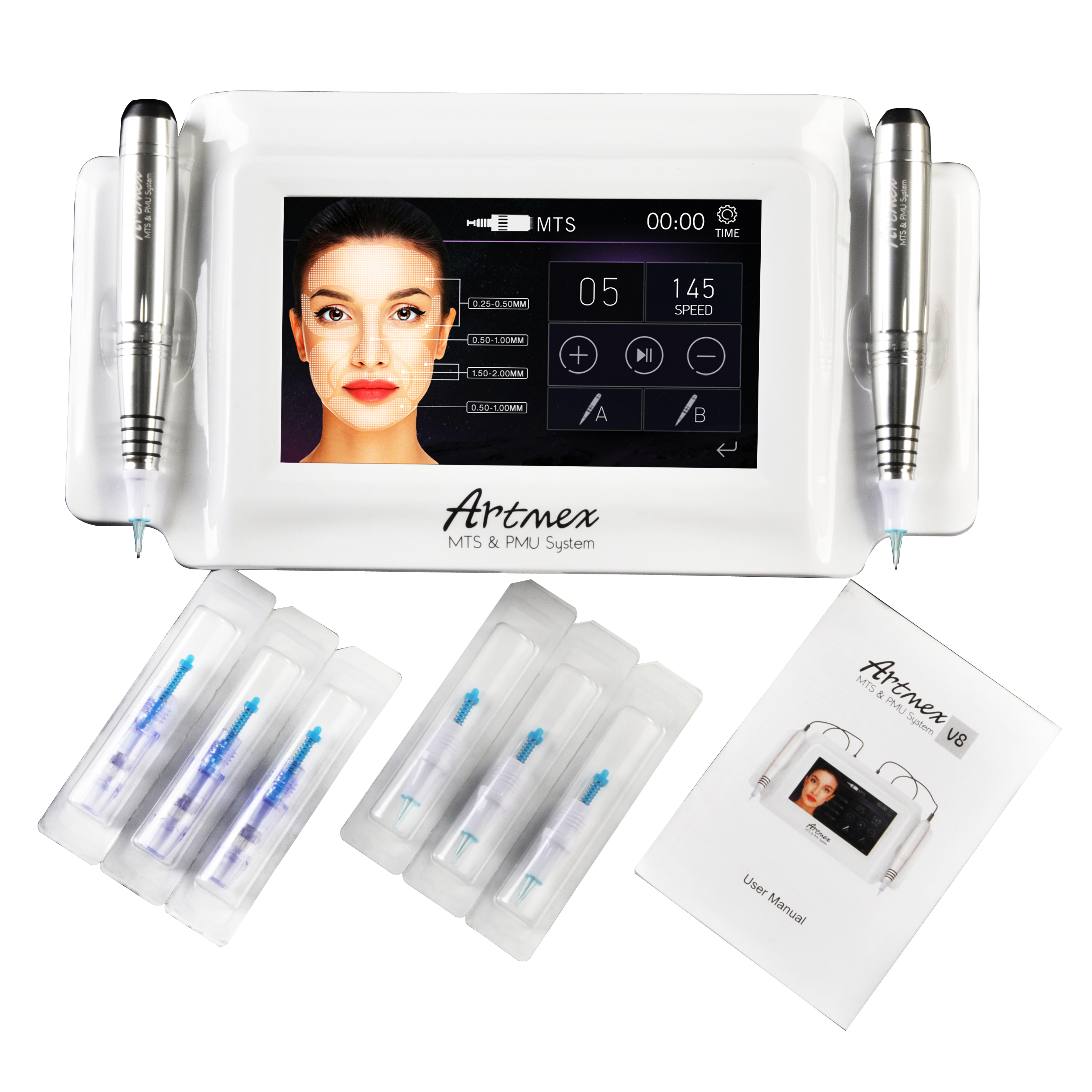 Professionelle Semi Permanent Make-Up Maschine Tattoo Kits Artmex V8 mit Zwei Augenbrauen Lippen Tattoo Stift für Schönheit Salon & Home verwenden