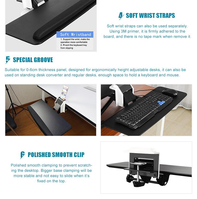 Офисная мебель регулируемый эргономичный раздвижной компьютер под столом клавиатура лоток