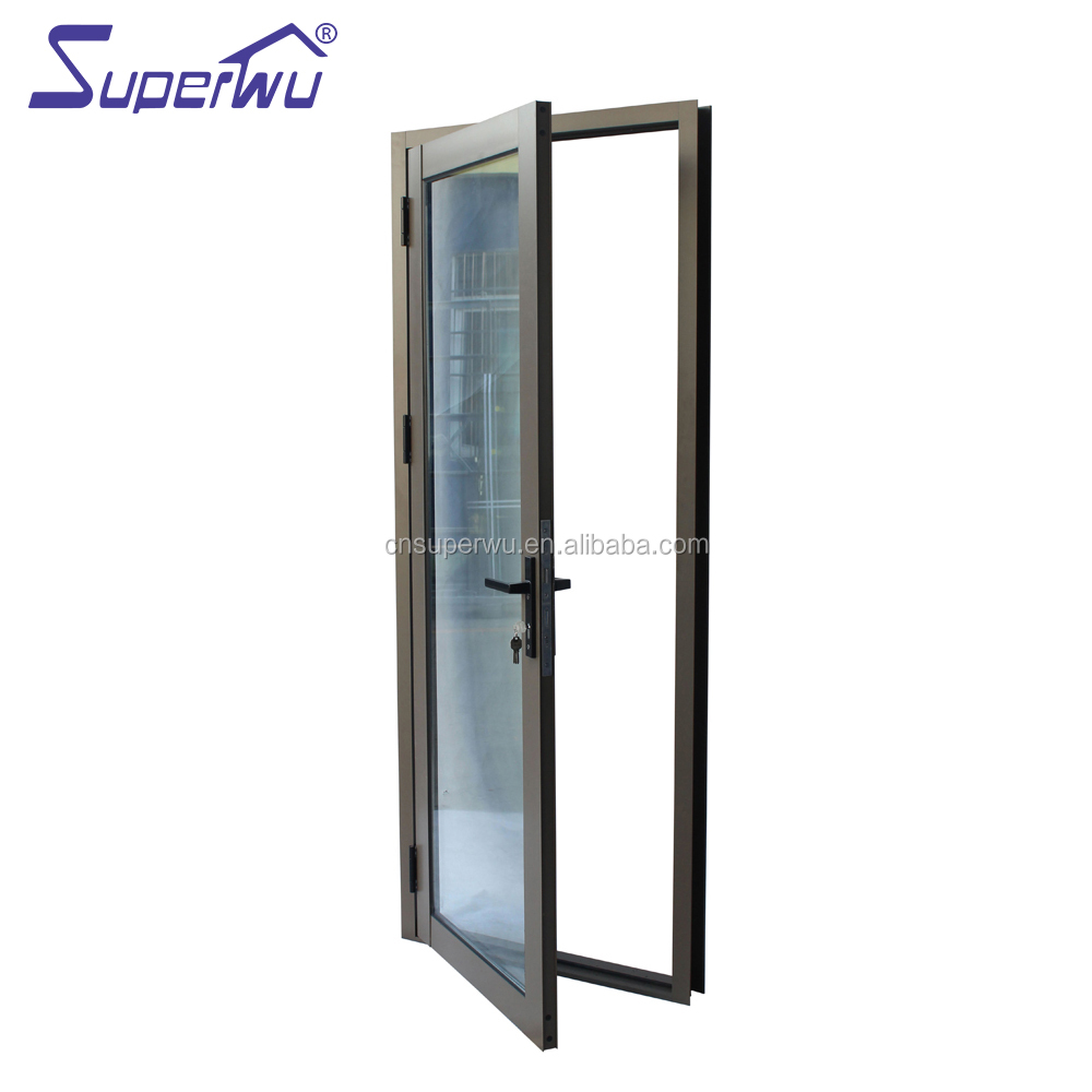 Large Exterior Entry French Patio Doors Hurricane impact proof Aluminium Hinged Glass Doors French Doors