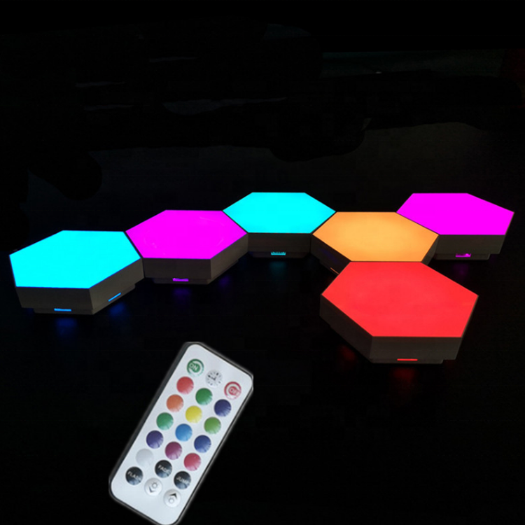 DIY Touch Sensor Remote Controlled Smart Led Wall <strong>Light</strong> Led Hexagonal Multi <strong>Color</strong> Touch Modular Hexagonal <strong>Light</strong> For Night