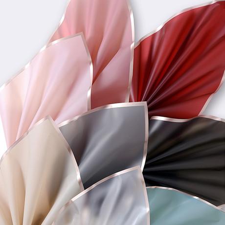 Atacado embalagem logotipo personalizado presente à prova dwaterproof água flores rolo de papel de embrulho